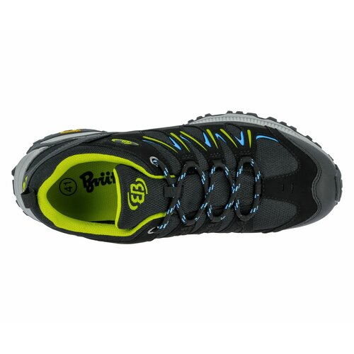 Brütting Outdoorschuh Expedition - schwarz/lemon/blau 43